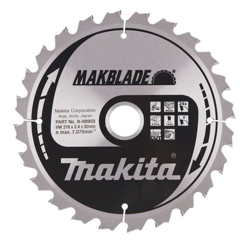 Bild på Makita Sågklinga HM 216x30x2,4 mm, 24T