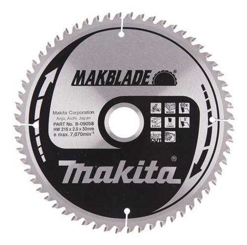 Bild på Makita Sågklinga HM 216x30x2,0 mm, 60T