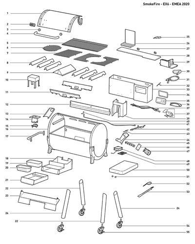 Bild på Weber® Konsol till Flavorizers EX6 Nr.10 (Single)