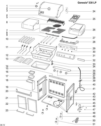 Bild på Weber® Crossovertube Genesis 330 (2013-) Nr.8